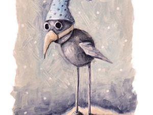 День 152. Этюд маслом  «Маленькая ворона». Ярмарка Мастеров - ручная работа, handmade.