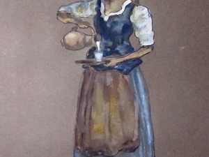 Крестьянка с молоком. Ярмарка Мастеров - ручная работа, handmade.