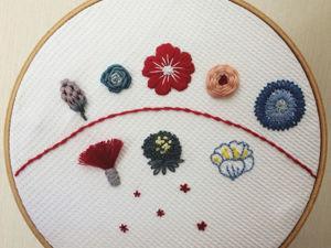 9 способов вышить цветок. Ярмарка Мастеров - ручная работа, handmade.