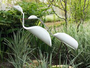 Делаем птиц из пластиковых труб, поделки для сада: видео мастер-класс. Ярмарка Мастеров - ручная работа, handmade.