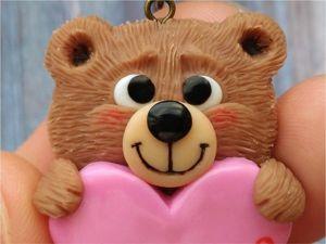 Лепим из пластики милого Мишутку с сердцем: видео мастер-класс ко Дню святого Валентина. Ярмарка Мастеров - ручная работа, handmade.