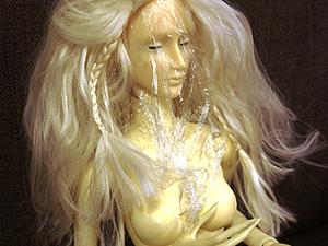 Делаем парик для BJD куклы. Ярмарка Мастеров - ручная работа, handmade.