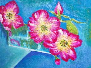 Рисуем цветы шиповника в стакане воды. Часть 1. Ярмарка Мастеров - ручная работа, handmade.