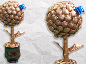 Делаем топиарий из природных материалов: видео мастер-класс. Ярмарка Мастеров - ручная работа, handmade.