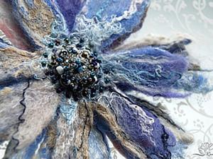 Валяем брошь-цветок (видео-урок, часть первая). Ярмарка Мастеров - ручная работа, handmade.