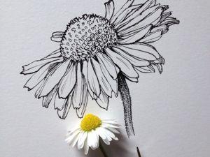 Стилизация растения в рисунке. Ярмарка Мастеров - ручная работа, handmade.