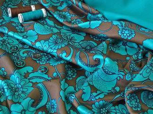 Плательно-блузочная ткань из шелка и вискозы. Ярмарка Мастеров - ручная работа, handmade.