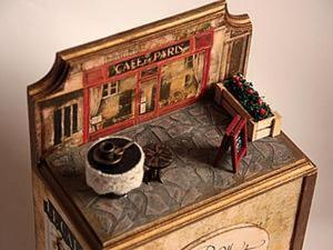 """Миниатюры для чайного домика """"Парижское кафе"""" своими руками. Ярмарка Мастеров - ручная работа, handmade."""