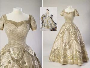 Embroidery on the Coronation Gown of Elizabeth II. Livemaster - handmade