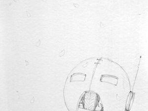 День 250. Набросок по грунту под масляный этюд  «Цветопад». Ярмарка Мастеров - ручная работа, handmade.