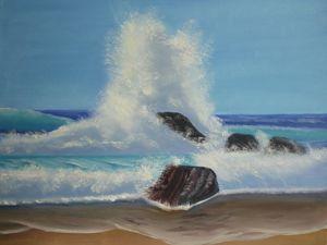 Видео с картиной  «Морской прибой». Ярмарка Мастеров - ручная работа, handmade.