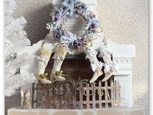 Новогодние носочки и сапожки в стиле шебби шик. Ярмарка Мастеров - ручная работа, handmade.