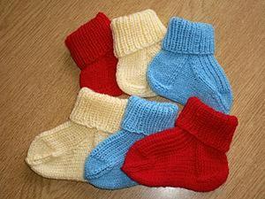 Вяжем детские носочки. Ярмарка Мастеров - ручная работа, handmade.