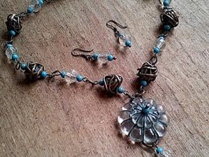 Барабашка варьете: делаем ожерелье из старой люстры. Ярмарка Мастеров - ручная работа, handmade.