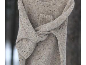 Пуловер FOYLE из ирландского твида Donegal Soft Tweed. Ярмарка Мастеров - ручная работа, handmade.