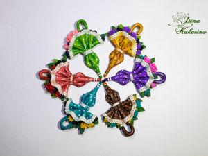 Новые броши зонтики. Ярмарка Мастеров - ручная работа, handmade.