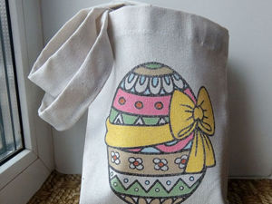 Роспись пасхальной сумочки. Ярмарка Мастеров - ручная работа, handmade.