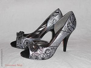 Обновляем замшевые туфли: делаем оригинальную роспись. Ярмарка Мастеров - ручная работа, handmade.