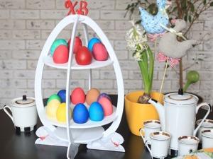 Мастерим из фанеры подставку для пасхальных яиц. Ярмарка Мастеров - ручная работа, handmade.