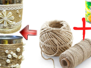 2 идеи декора жестяных банок джутом. Ярмарка Мастеров - ручная работа, handmade.