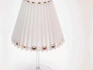 Делаем оригинальный подсвечник-абажур с кристаллами и жемчужными бусинами Swarovski. Ярмарка Мастеров - ручная работа, handmade.
