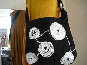 Шьем сумку с аппликацией из шертяных ниток. Ярмарка Мастеров - ручная работа, handmade.