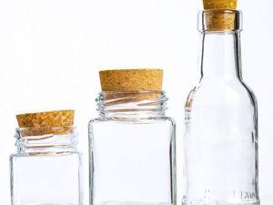 3 новых бутылочки разных форм объемом от 60мл до 100мл. Ярмарка Мастеров - ручная работа, handmade.