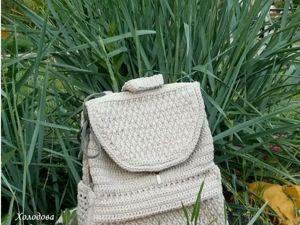 Видео. Рюкзак вязаный. Ярмарка Мастеров - ручная работа, handmade.