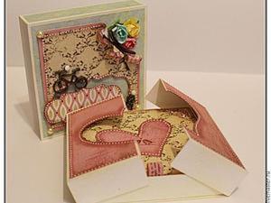 Делаем подарочную коробочку для денег. Ярмарка Мастеров - ручная работа, handmade.