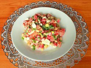 Салат из крабовых палочек с фасолью и помидорами. Ярмарка Мастеров - ручная работа, handmade.