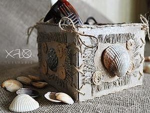 Бохо коробочка в морском стиле. Ярмарка Мастеров - ручная работа, handmade.