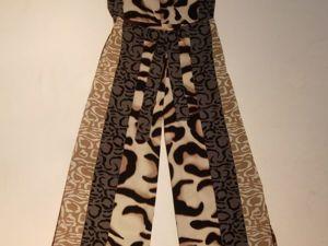 Шьём трендовые брюки палаццо из принтовой ткани. Ярмарка Мастеров - ручная работа, handmade.