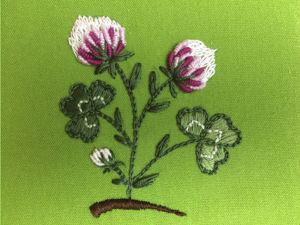 Вышивка гладью для начинающих: вышиваем клевер. Ярмарка Мастеров - ручная работа, handmade.