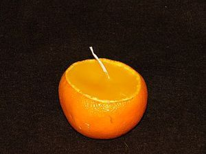 10 minutes DUY on Tangerine Candles. Livemaster - handmade