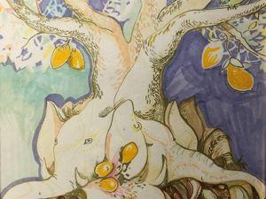 Картина манговое дерево. Ярмарка Мастеров - ручная работа, handmade.