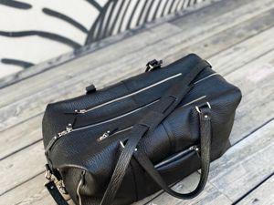 Видео обзор: Дорожная сумка. Ярмарка Мастеров - ручная работа, handmade.