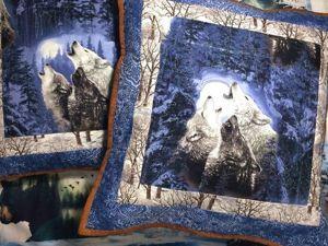 Шьем лоскутную подушку «Волки». Ярмарка Мастеров - ручная работа, handmade.