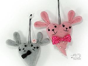 """Вяжем подарок на день Святого Валентина """"Сердечный зай"""". Ярмарка Мастеров - ручная работа, handmade."""