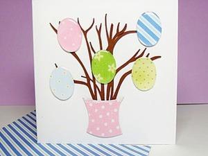 """Мастер-класс по изготовлению открытки """"Пасхальное дерево"""". Ярмарка Мастеров - ручная работа, handmade."""