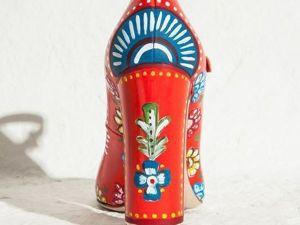Яркий акцент: туфли с росписью ручной работы. Ярмарка Мастеров - ручная работа, handmade.
