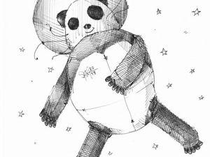 День 284. Набросок ручкой  «Большая медведица». Ярмарка Мастеров - ручная работа, handmade.