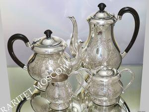 Сервиз чайник сахарница сливочник серебрение 1. Ярмарка Мастеров - ручная работа, handmade.