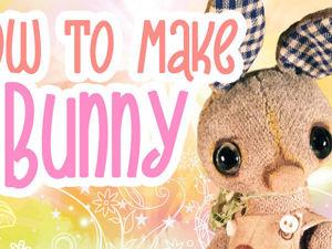 Делаем мордочку и хвостик для зайчика. Ярмарка Мастеров - ручная работа, handmade.