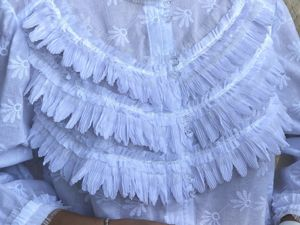 Белая блузочка нарядная — Ангелина. Ярмарка Мастеров - ручная работа, handmade.