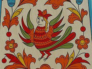 Мастер-класс: северодвинская роспись разделочной доски. Ярмарка Мастеров - ручная работа, handmade.