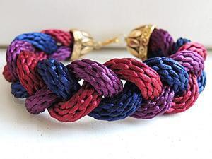 Мастер-класс: браслет-коса из шнуров кумихимо. Ярмарка Мастеров - ручная работа, handmade.