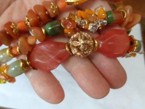3х рядный браслет  «Осенний марафон». Ярмарка Мастеров - ручная работа, handmade.