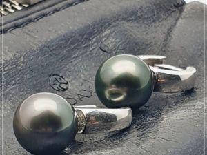 Серьги с морским таитянским жемчугом «Принцесса Кристина — 2» серебро 925. Ярмарка Мастеров - ручная работа, handmade.