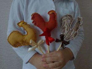 Делаем текстильного петушка на палочке. Ярмарка Мастеров - ручная работа, handmade.