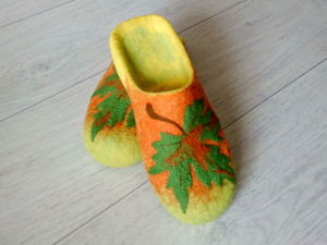 Making Slippers from Wool. Part 2. Livemaster - handmade
